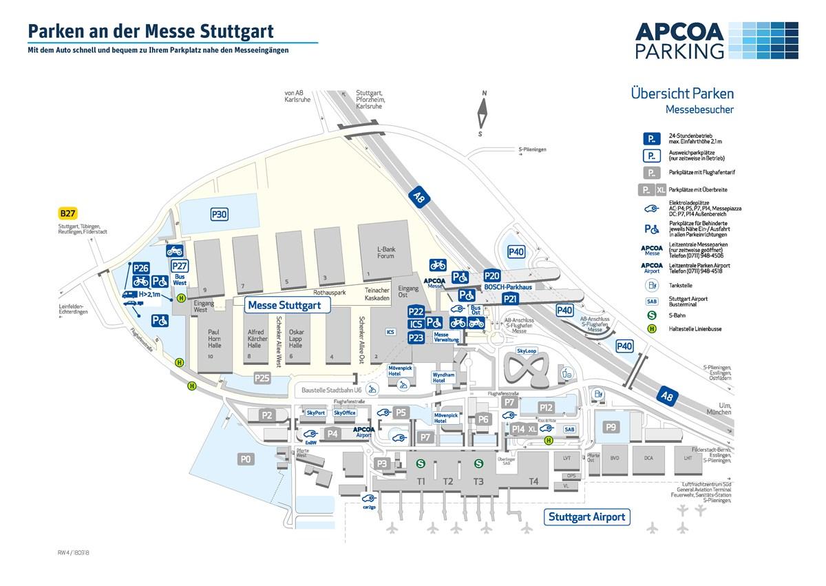 Parken Messe Stuttgart
