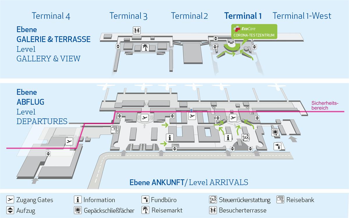 Corona Testzentrum   Flughafen Stuttgart